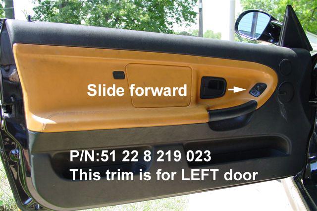 X1 Left Interior Inner Door Handle Surrounds Trim For Bmw