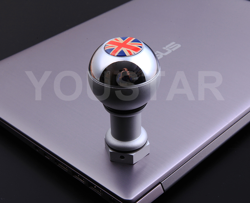 chrome weighted short shifter manual gear knob shift for mini r50 r53 r56 silver ebay. Black Bedroom Furniture Sets. Home Design Ideas