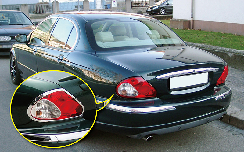 Us Stock X2 Chrome Rear Tail Light Surrounds For Jaguar X Type 4