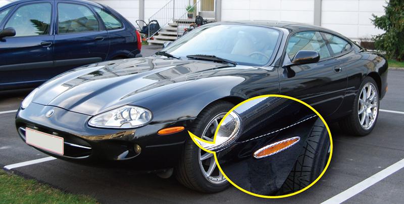 USA STOCK x4 ROYAL CHROME Side Reflector Trims for Jaguar X100 XK XK8 XKR 96-06
